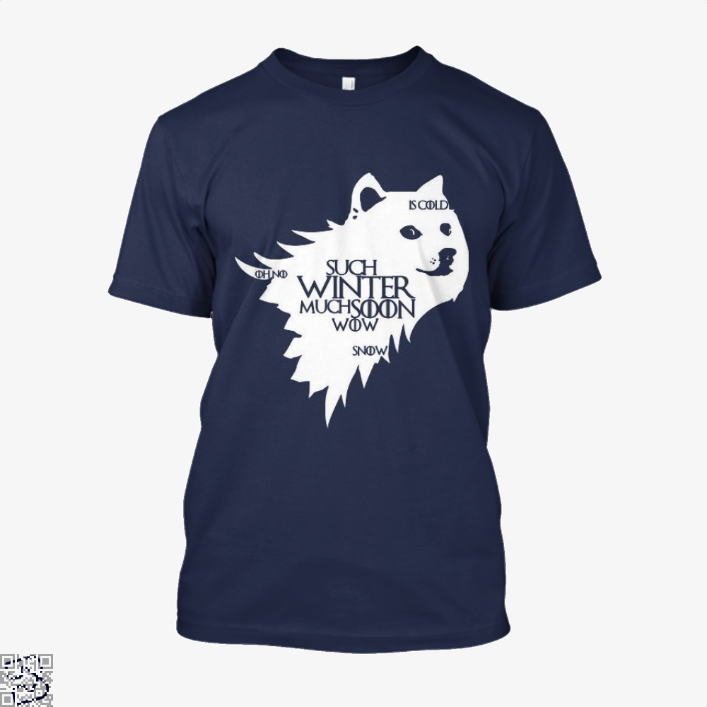 Game Of Thrones Doge Such Winter Much Soon Wow Of Shirt - Men / Blue / X-Small - Productgenjpg