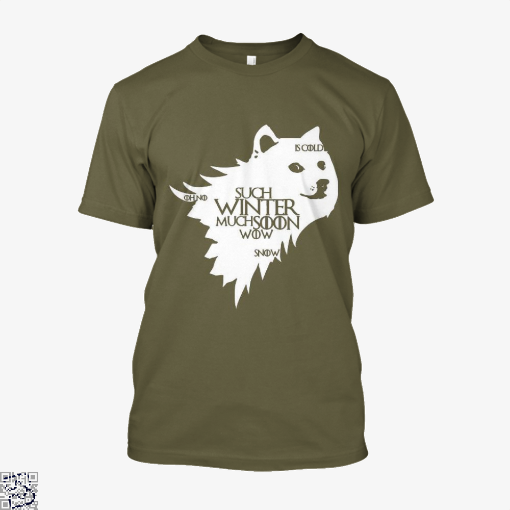 Game Of Thrones Doge Such Winter Much Soon Wow Of Shirt - Men / Brown / X-Small - Productgenjpg
