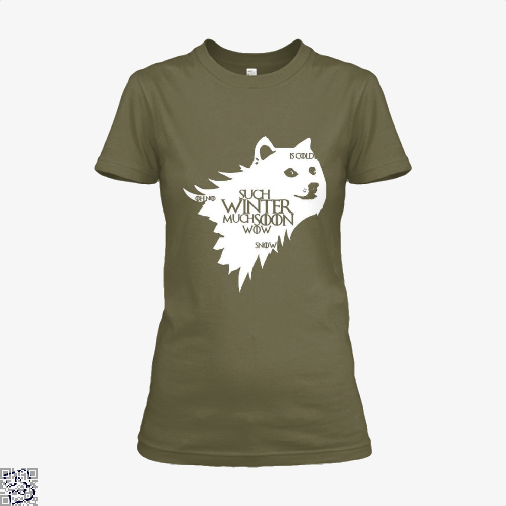Game Of Thrones Doge Such Winter Much Soon Wow Of Shirt - Women / Brown / X-Small - Productgenjpg
