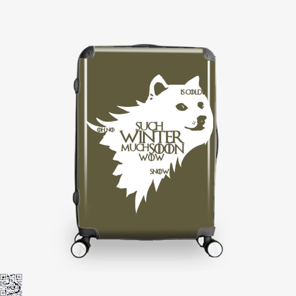 Game Of Thrones Doge Such Winter Much Soon Wow Of Suitcase - Brown / 16 - Productgenjpg