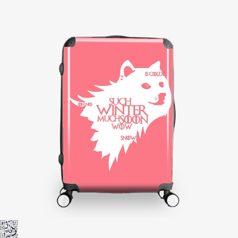 Game Of Thrones Doge Such Winter Much Soon Wow Of Suitcase - Pink / 16 - Productgenjpg