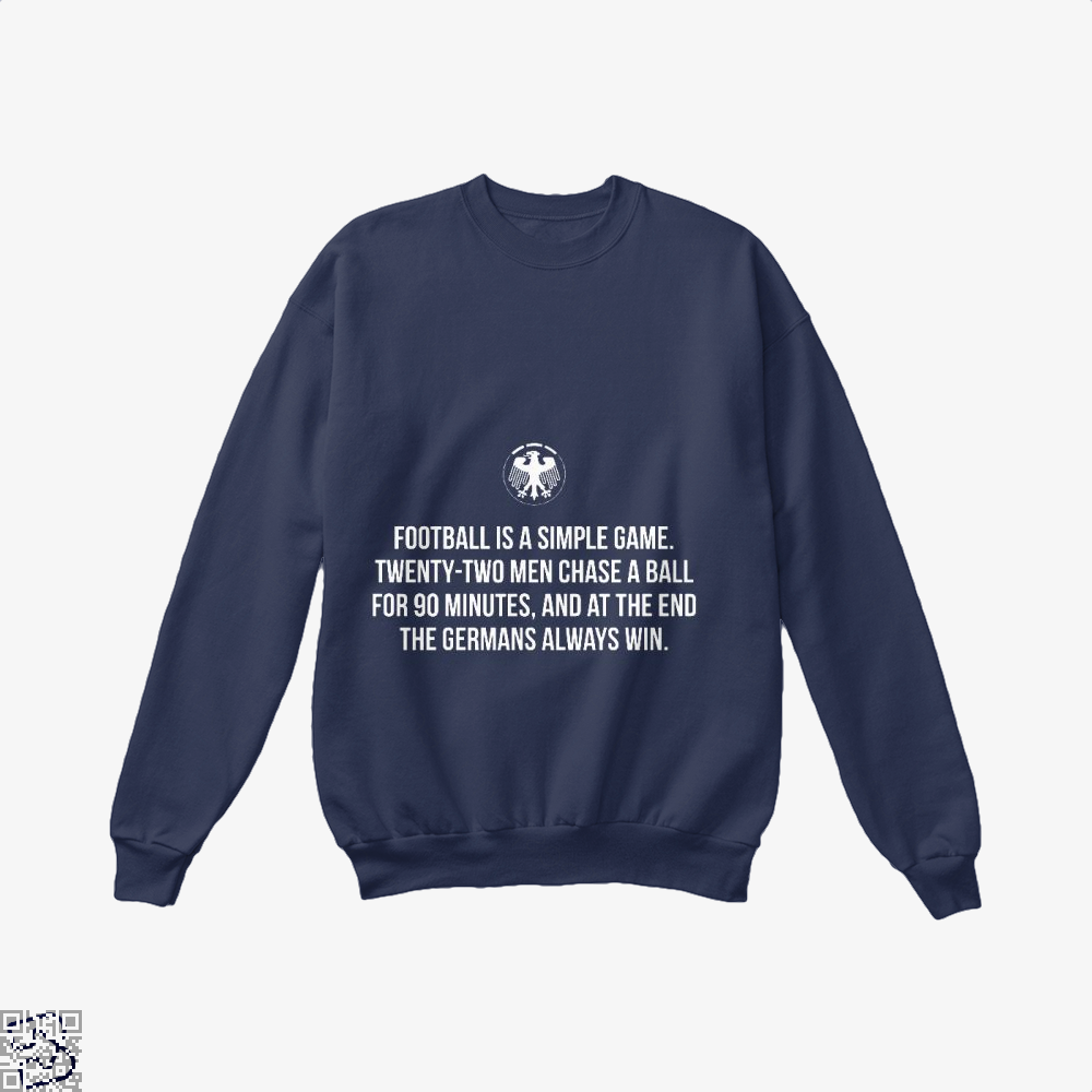 Germany Football Quote Fifa World Cup Crew Neck Sweatshirt - Blue / X-Small - Productgenapi