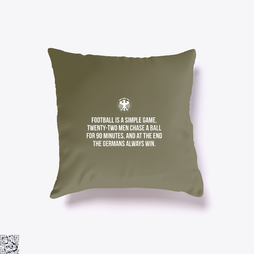 Germany Football Quote Fifa World Cup Throw Pillow Cover - Brown / 16 X - Productgenapi