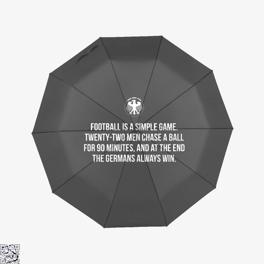 Germany Football Quote Fifa World Cup Umbrella - Black - Productgenapi