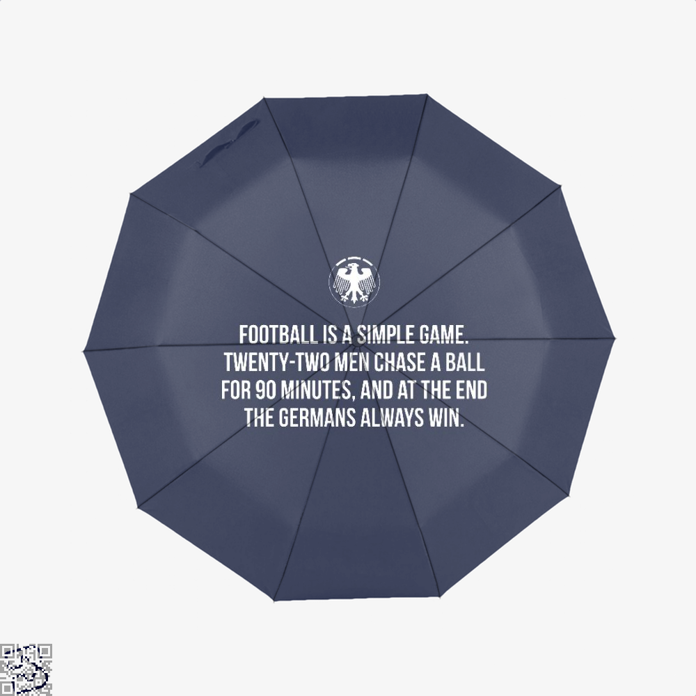 Germany Football Quote Fifa World Cup Umbrella - Blue - Productgenapi