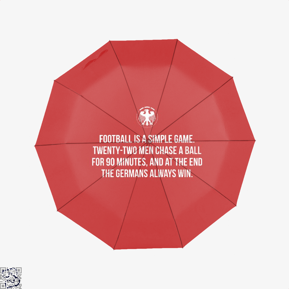 Germany Football Quote Fifa World Cup Umbrella - Red - Productgenapi