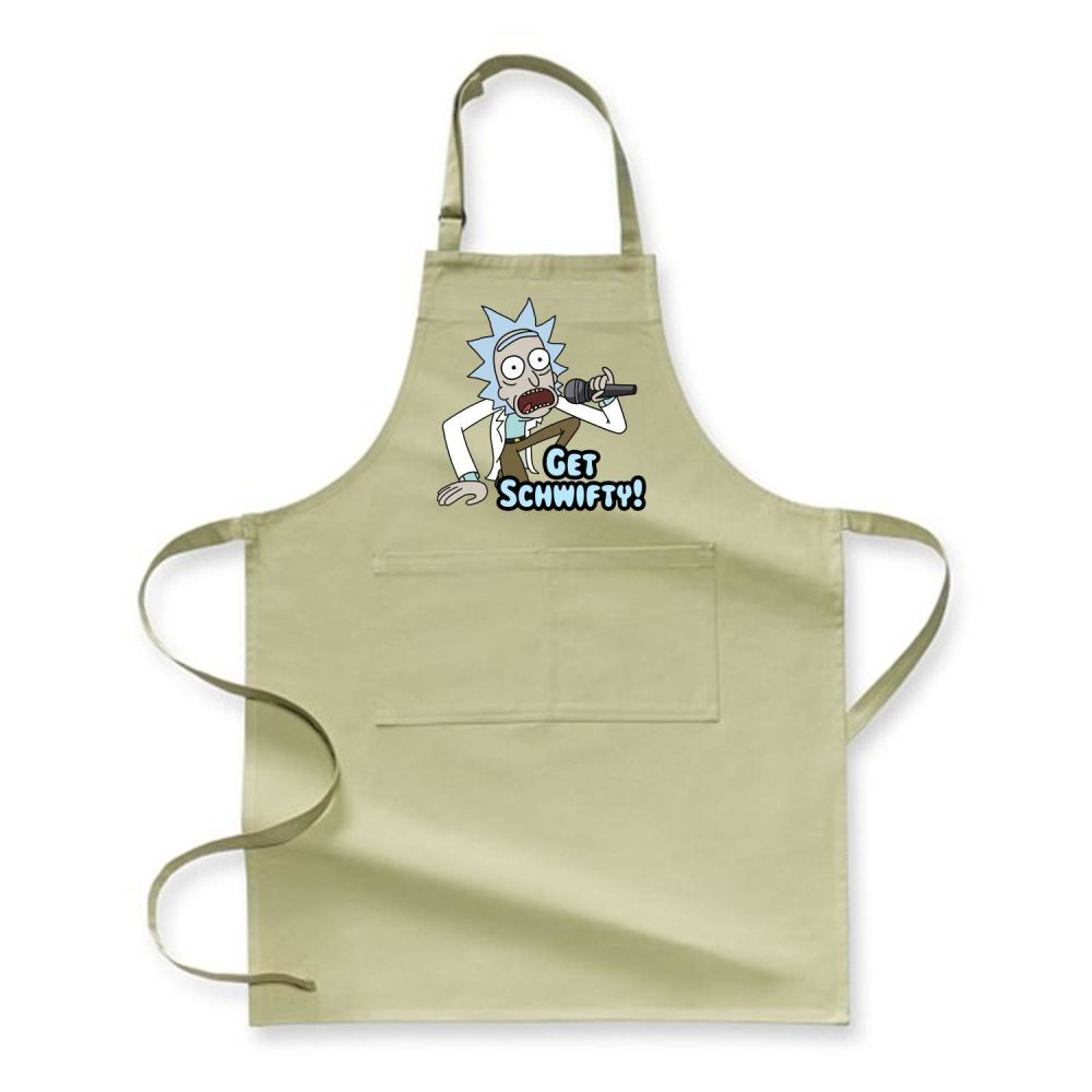 Get Schwifty Rick And Morty Apron - Green / Polyster - Productgenjpg