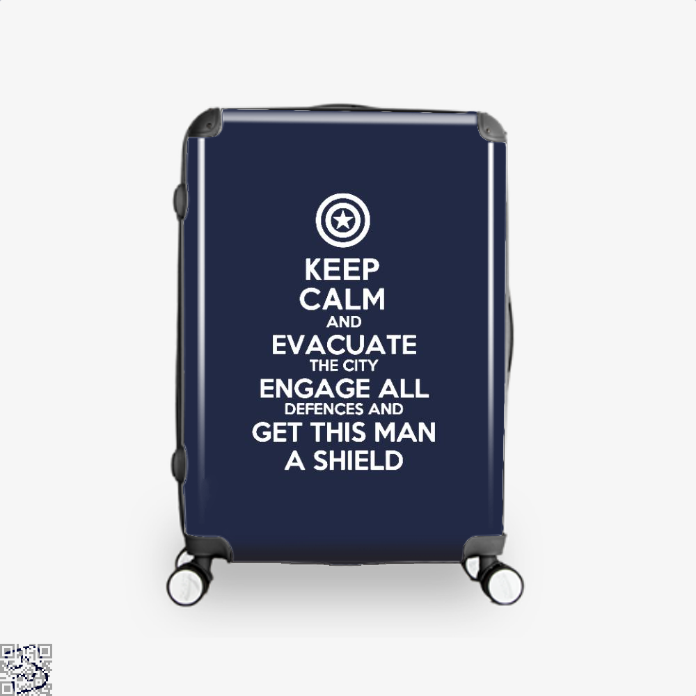 Get This Man A Shield Avengers Infinity War Suitcase - Blue / 16 - Productgenapi