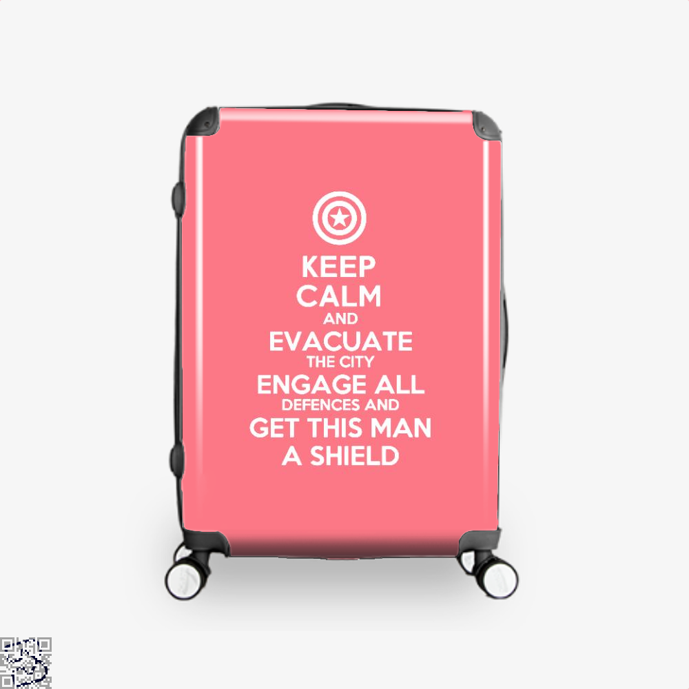 Get This Man A Shield Avengers Infinity War Suitcase - Pink / 16 - Productgenapi