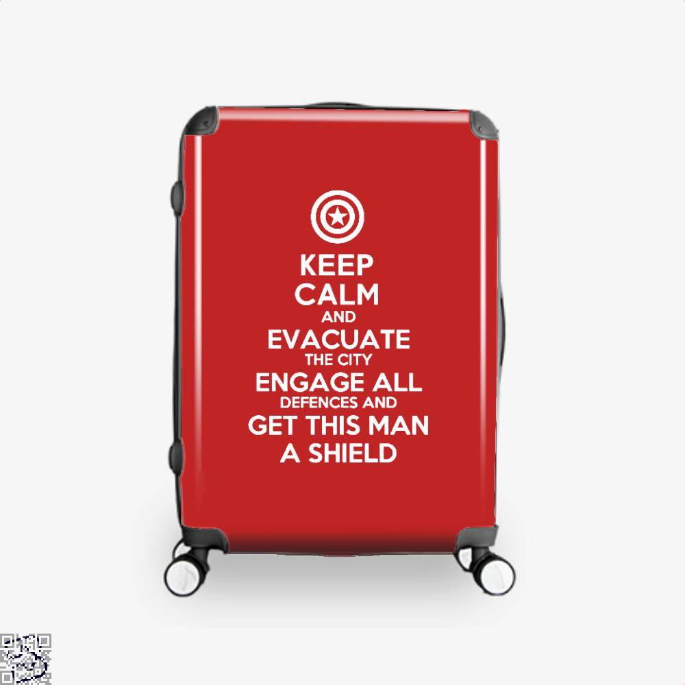Get This Man A Shield Avengers Infinity War Suitcase - Red / 16 - Productgenapi