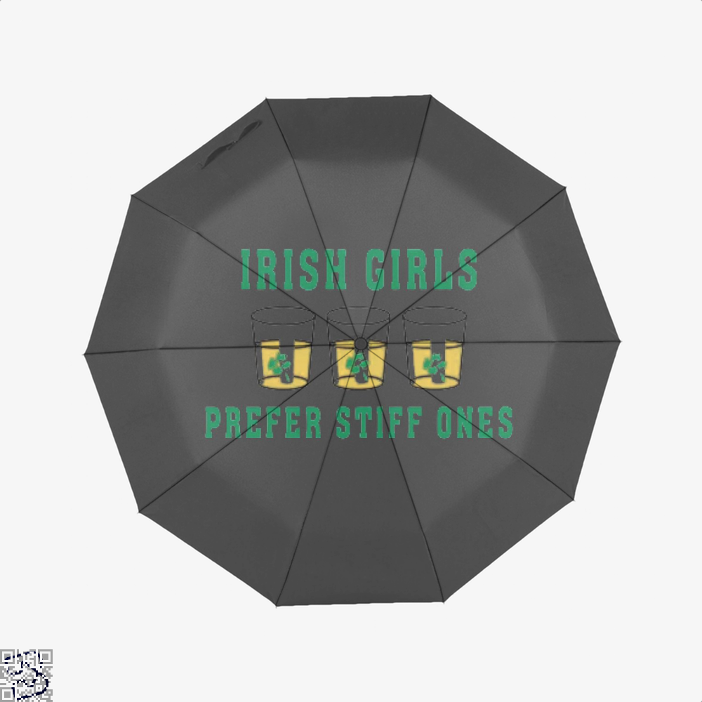 Girls Irish Clover Umbrella - Black - Productgenjpg