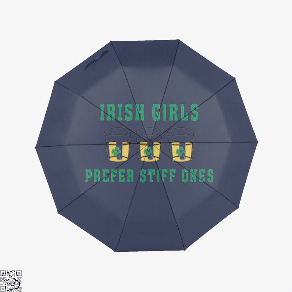 Girls Irish Clover Umbrella - Blue - Productgenjpg
