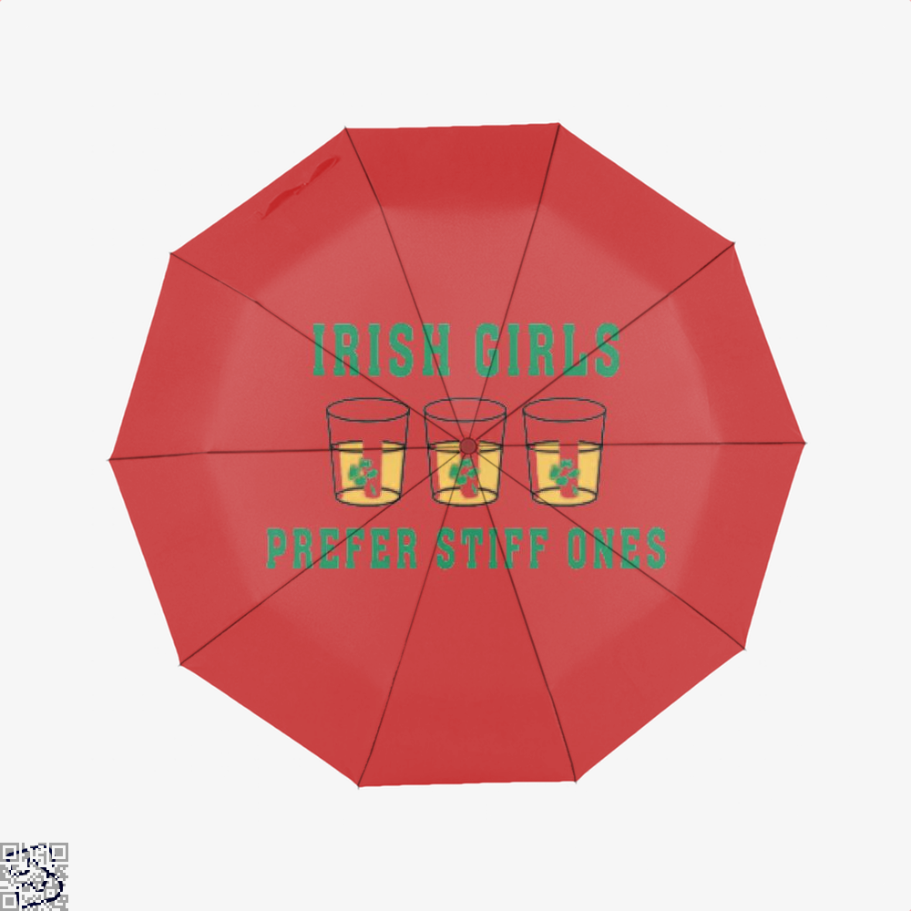 Girls Irish Clover Umbrella - Red - Productgenjpg