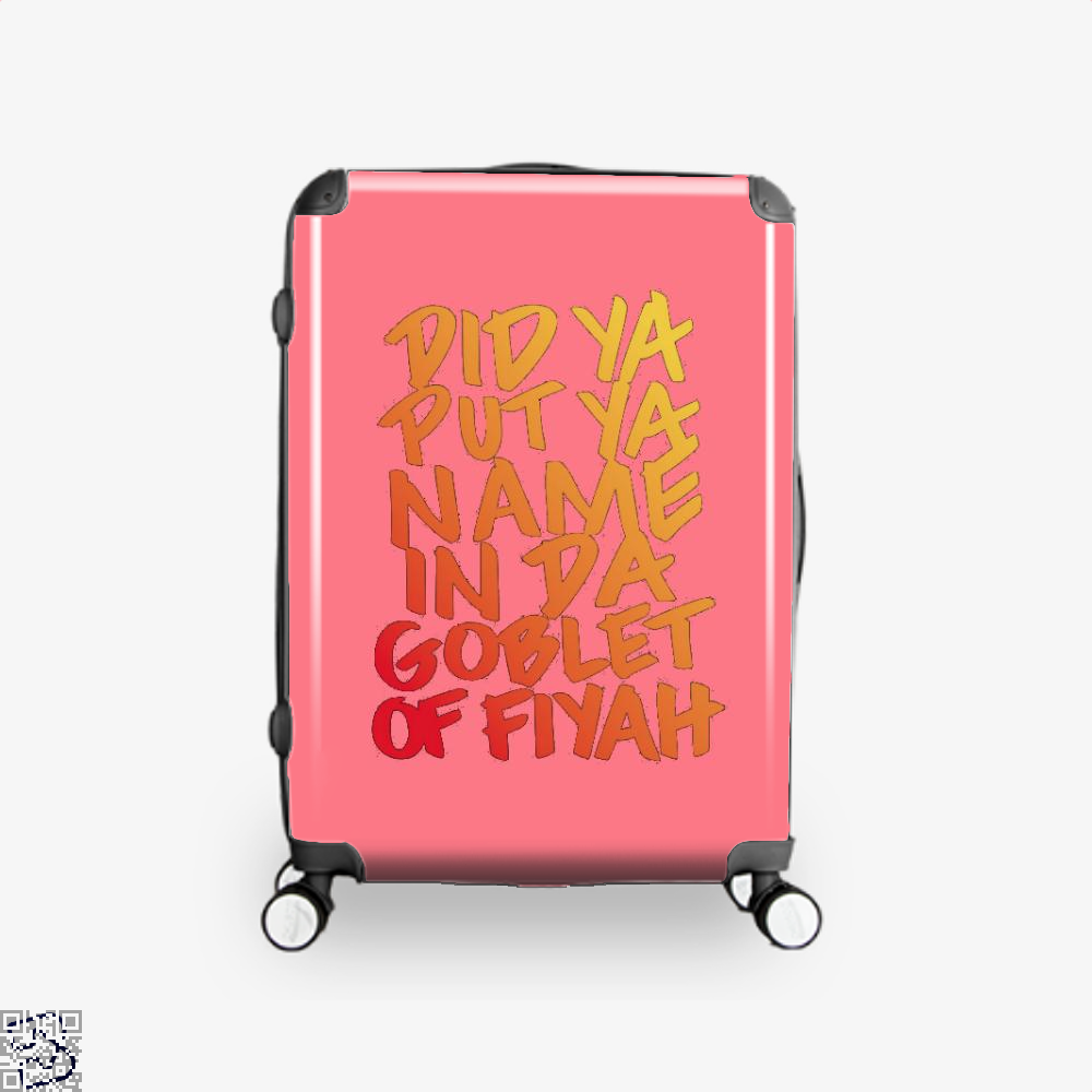 Goblet Of Fiyah Harry Potter Suitcase - Pink / 16 - Productgenjpg