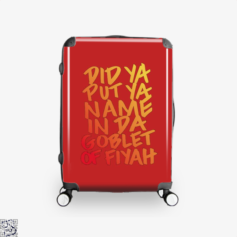 Goblet Of Fiyah Harry Potter Suitcase - Red / 16 - Productgenjpg