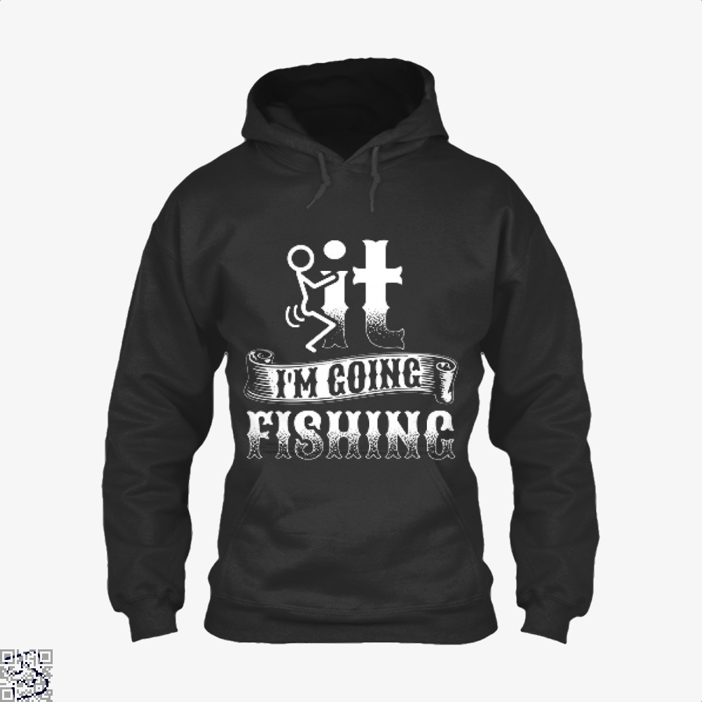 Going Fishing Hoodie - Black / X-Small - Productgenjpg