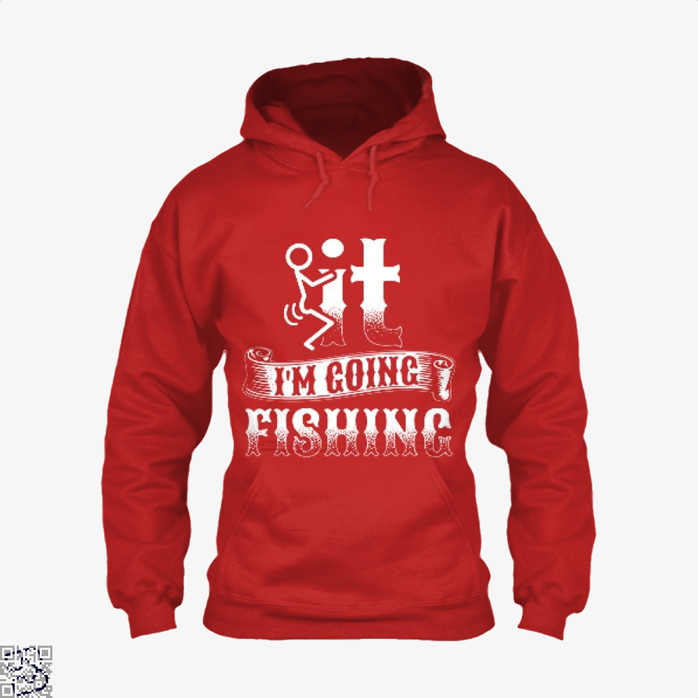 Going Fishing Hoodie - Red / X-Small - Productgenjpg