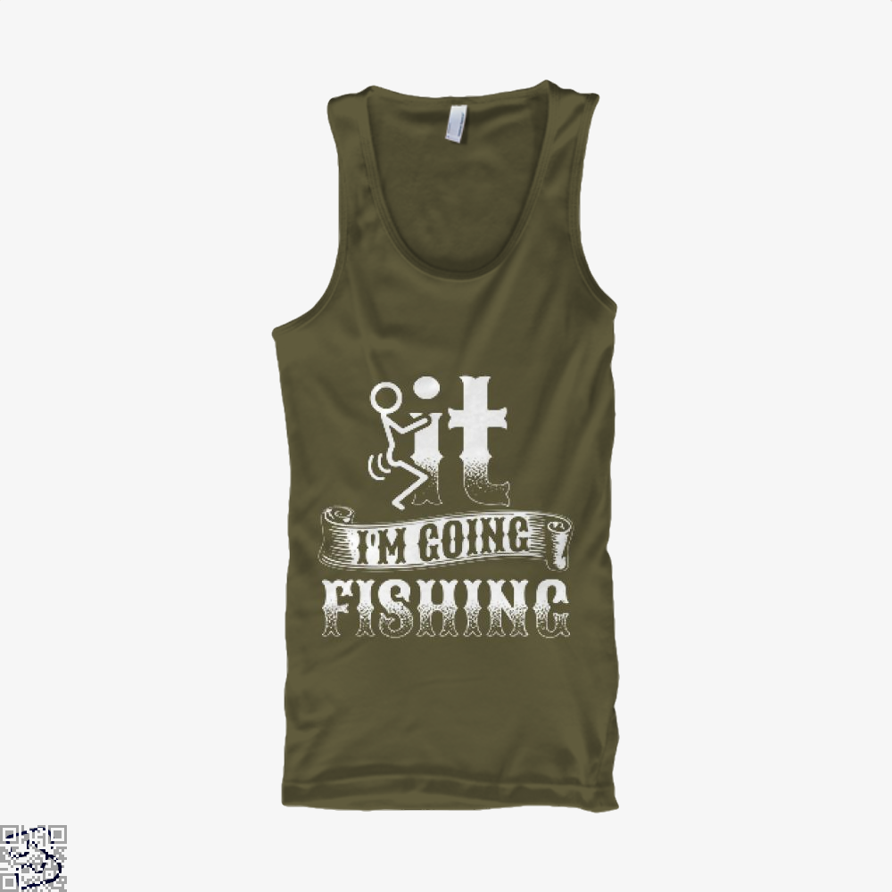 Going Fishing Tank Top - Men / Brown / X-Small - Productgenjpg