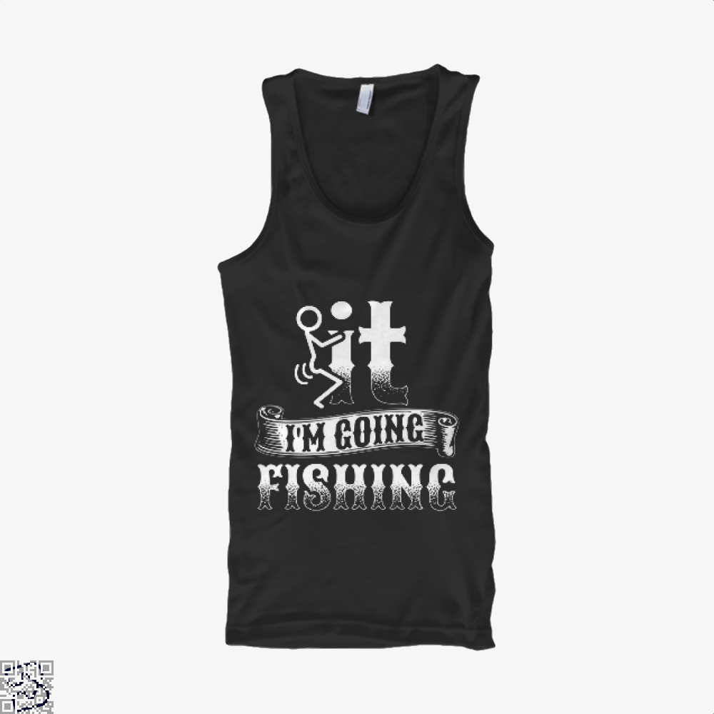 Going Fishing Tank Top - Women / Black / X-Small - Productgenjpg