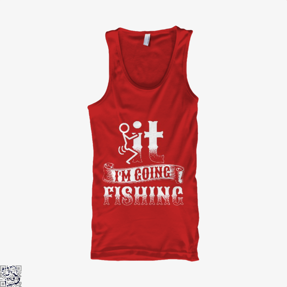 Going Fishing Tank Top - Women / Red / X-Small - Productgenjpg