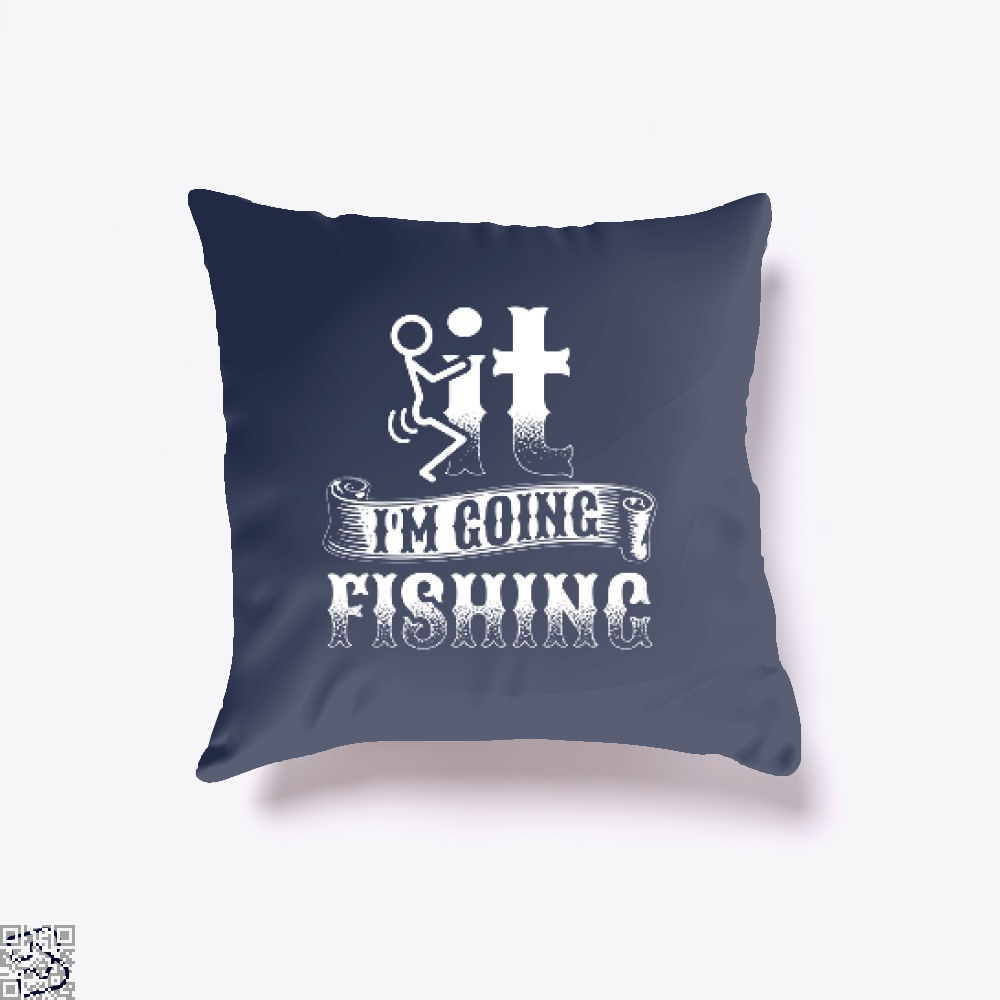Going Fishing Throw Pillow Cover - Blue / 16 X - Productgenjpg