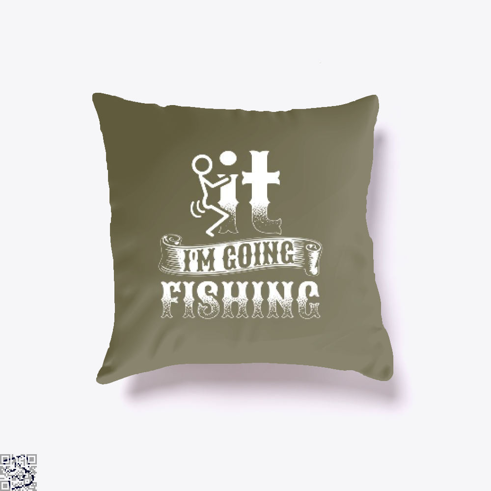 Going Fishing Throw Pillow Cover - Brown / 16 X - Productgenjpg