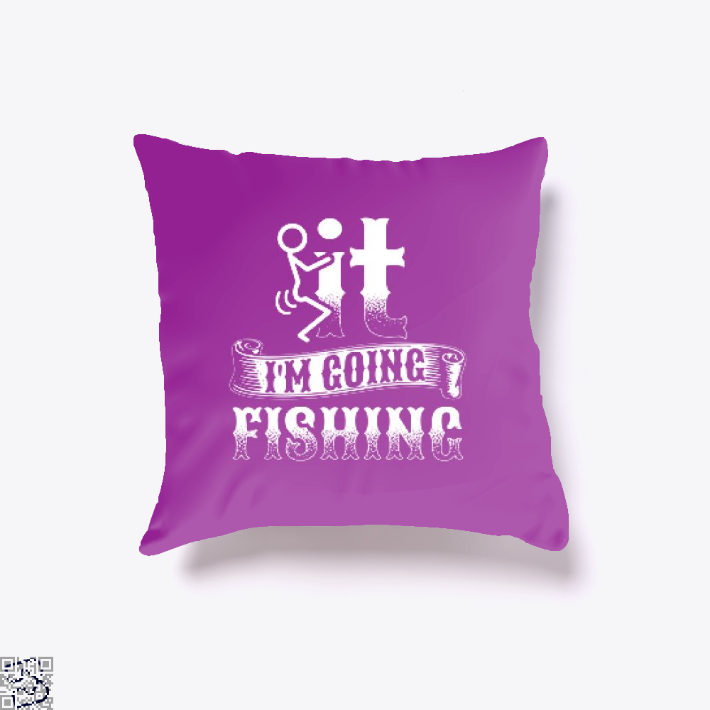 Going Fishing Throw Pillow Cover - Purple / 16 X - Productgenjpg