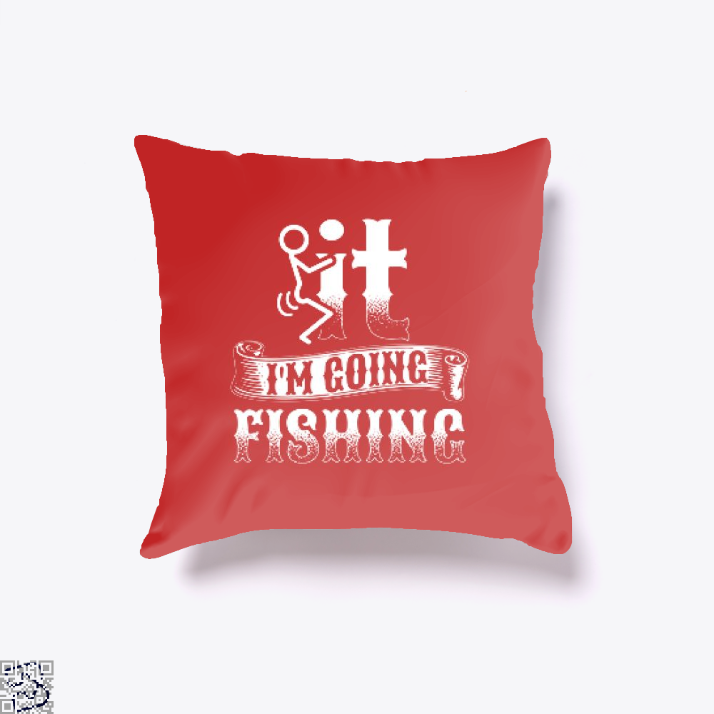 Going Fishing Throw Pillow Cover - Red / 16 X - Productgenjpg