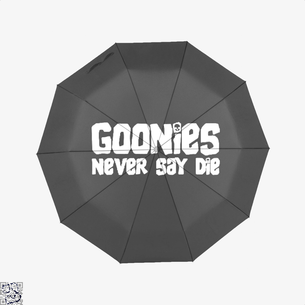 Goonies Never Say Die Text The Umbrella - Black - Productgenapi