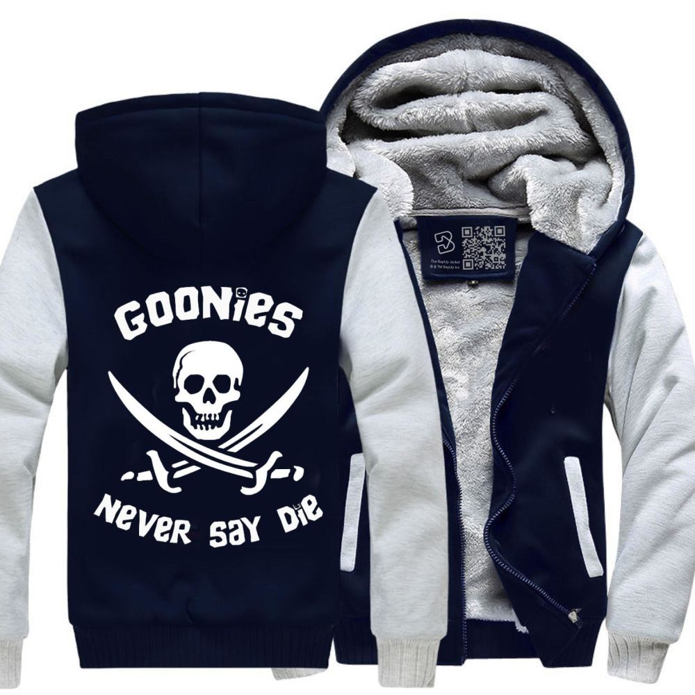 Goonies Never Say Die The Fleece Jacket - White / X-Small - Productgenjpg