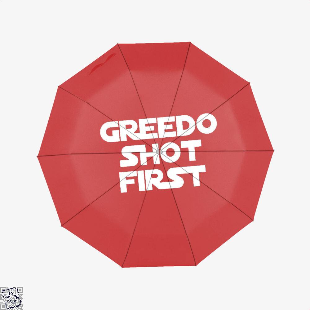 Greedo Shot First Star Wars Umbrella - Red - Productgenapi