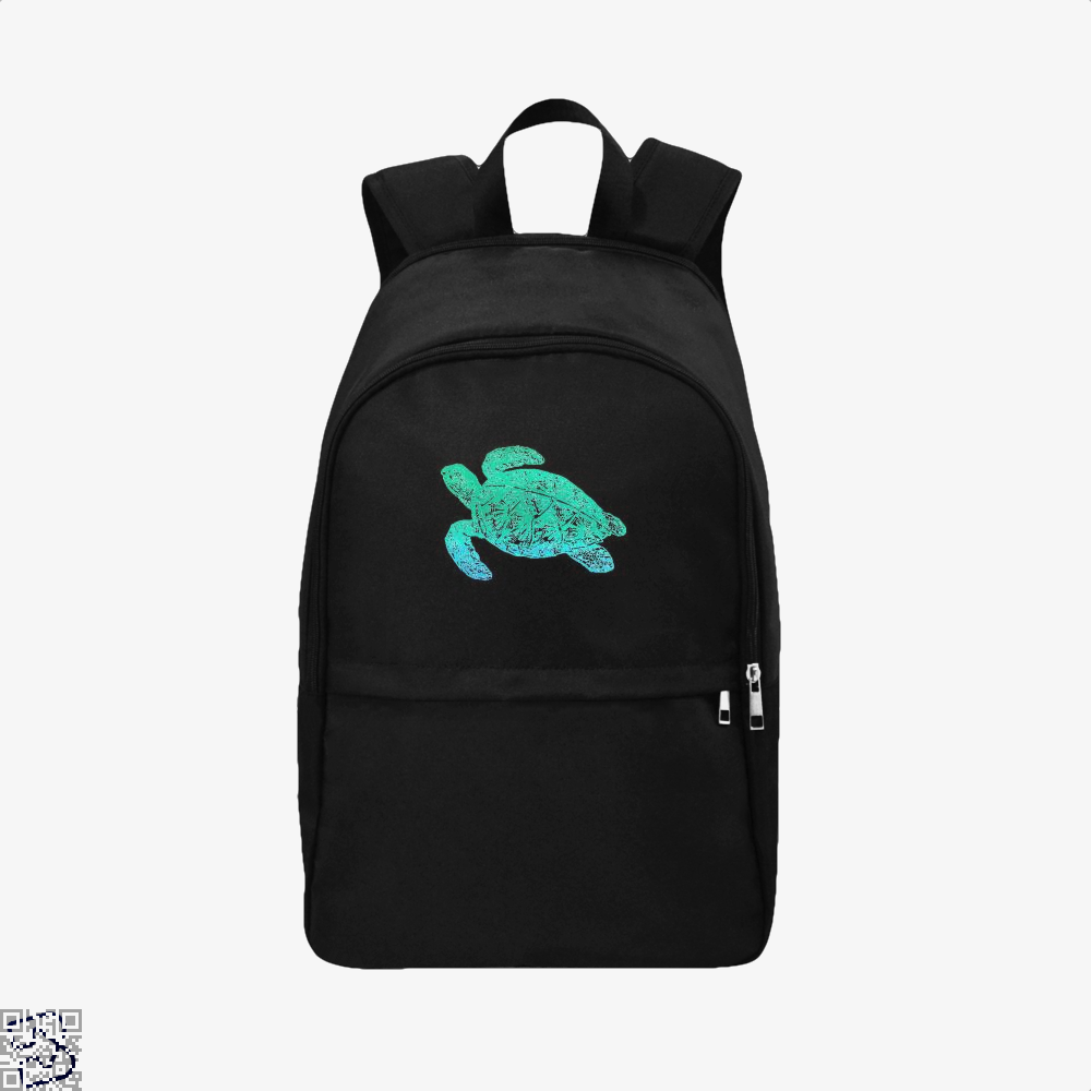 Green Blue Sea Turtle Turtles Backpack - Black / Adult - Productgenjpg