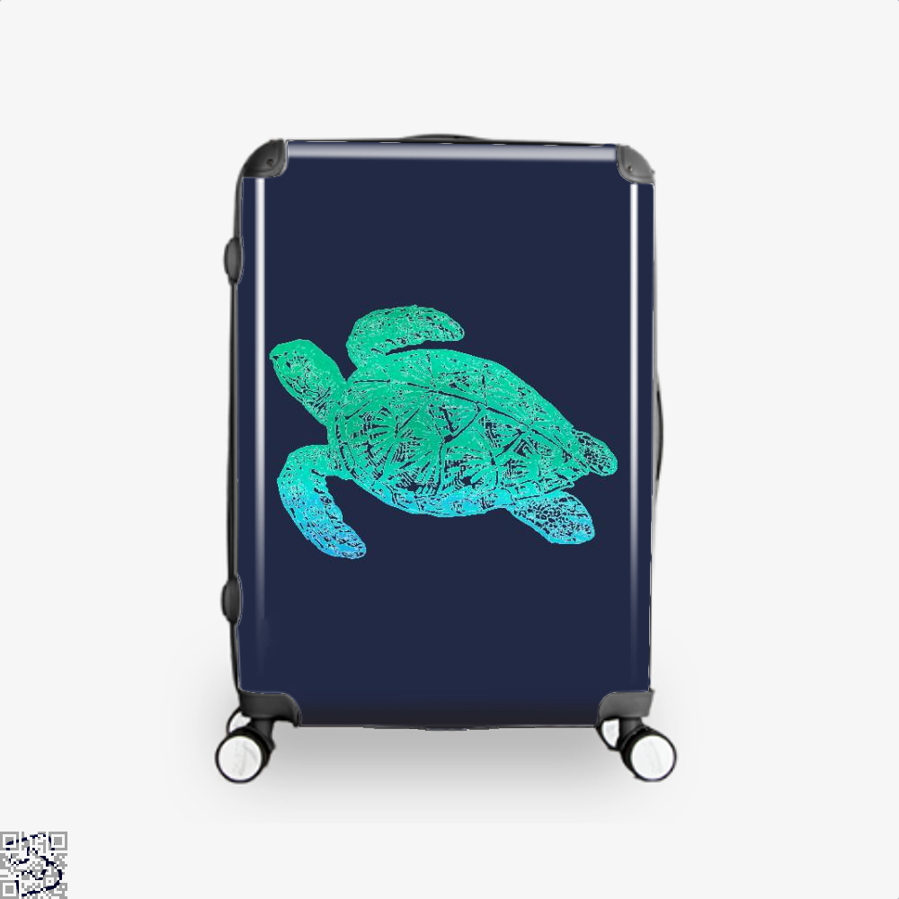 Green Blue Sea Turtle Turtles Suitcase - / 16 - Productgenjpg