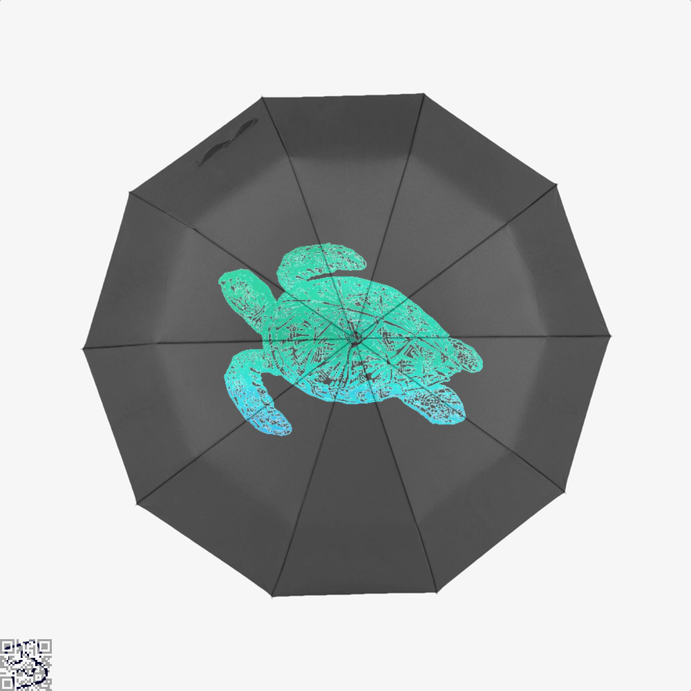 Green Blue Sea Turtle Turtles Umbrella - Black - Productgenjpg