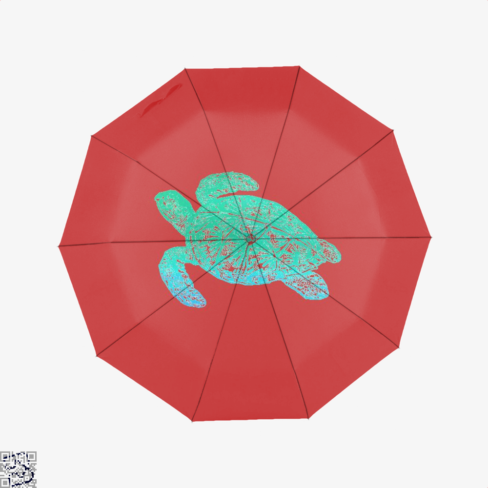 Green Blue Sea Turtle Turtles Umbrella - Red - Productgenjpg
