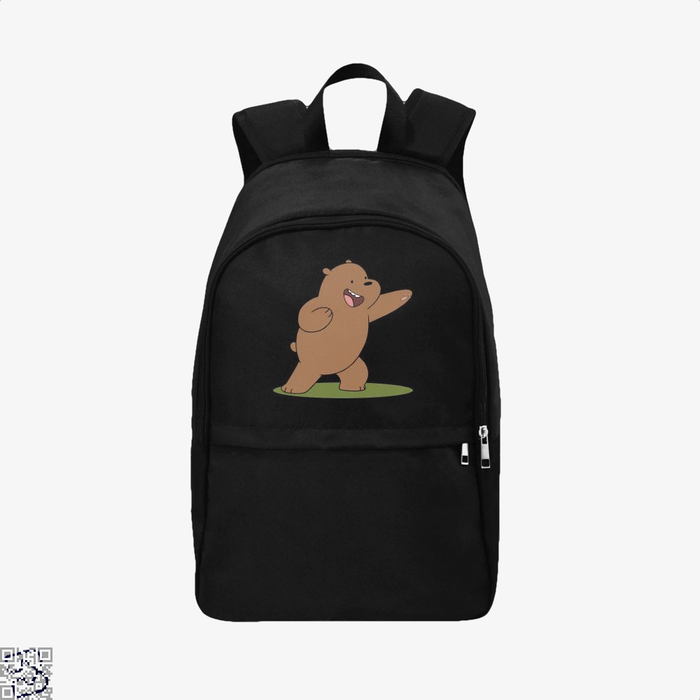 Grizzly Bear Fight We Bare Bears Backpack - Black / Adult - Productgenapi