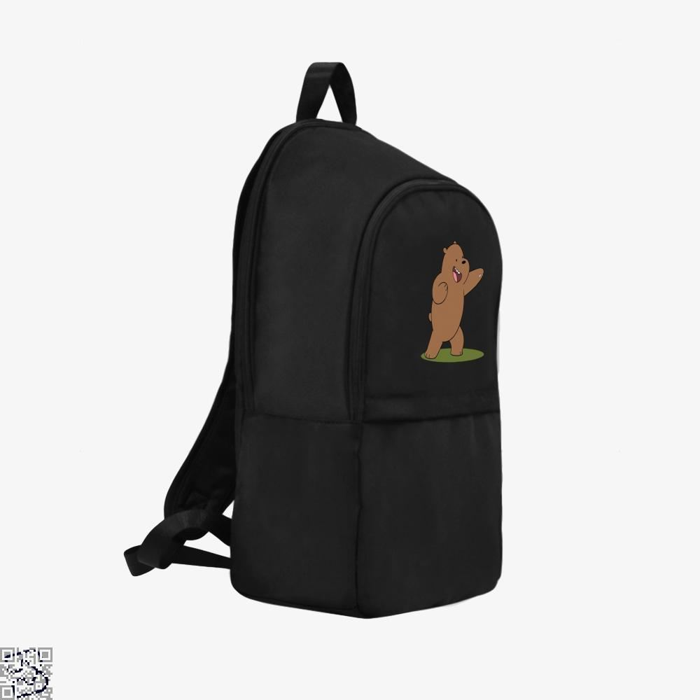 Grizzly Bear Fight We Bare Bears Backpack - Productgenapi