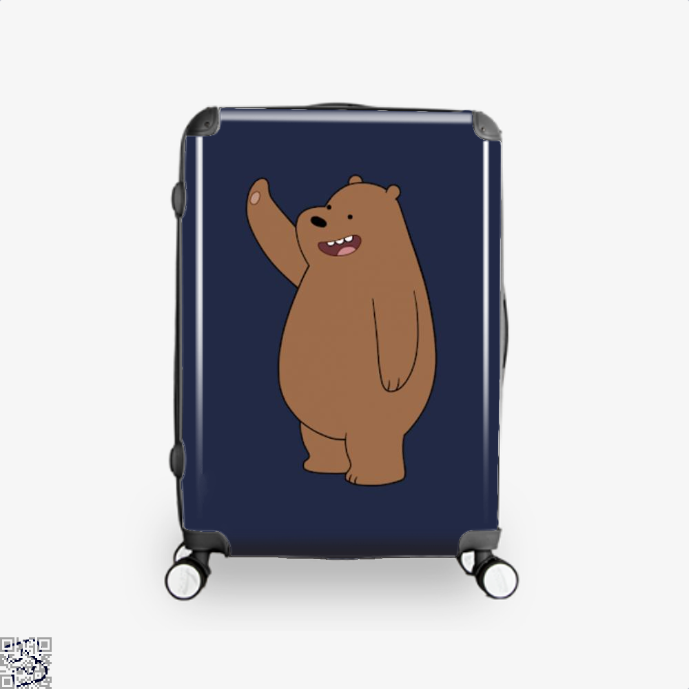 Grizzly Bear High Five We Bare Bears Suitcase - Blue / 16 - Productgenapi