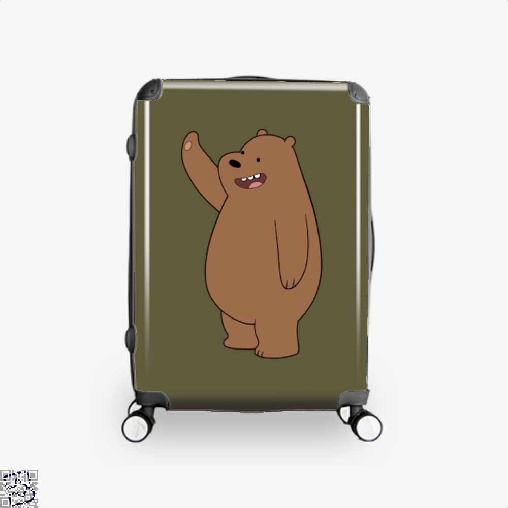 Grizzly Bear High Five We Bare Bears Suitcase - Brown / 16 - Productgenapi