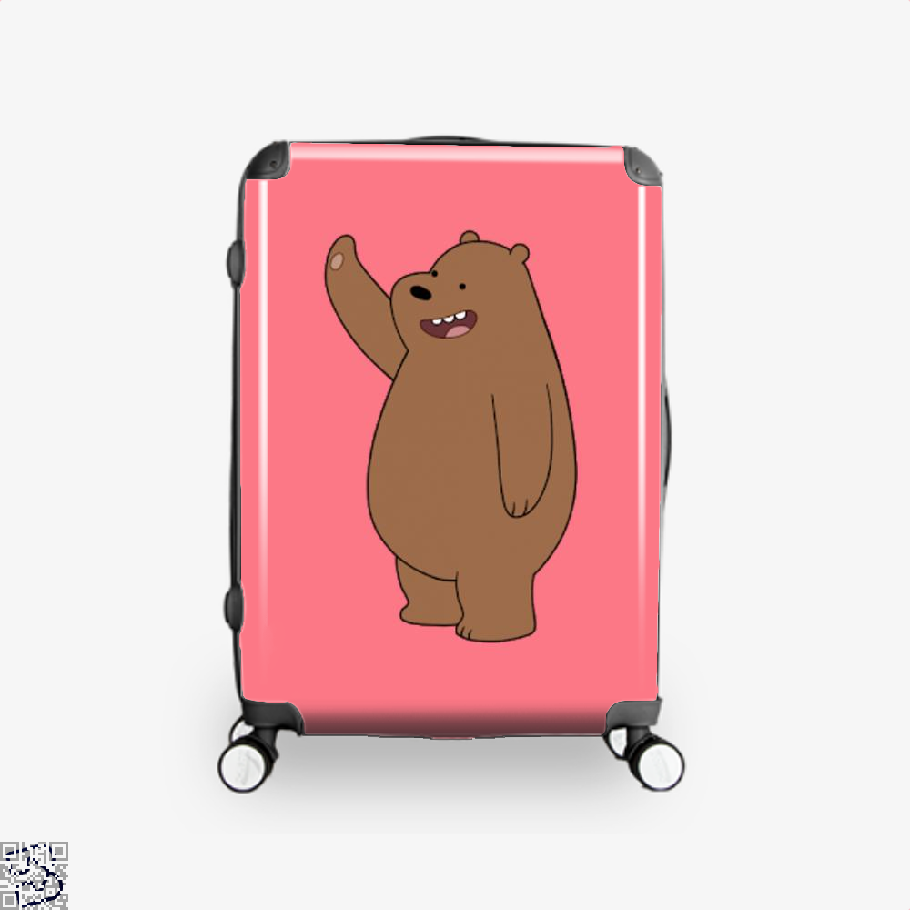 Grizzly Bear High Five We Bare Bears Suitcase - Pink / 16 - Productgenapi