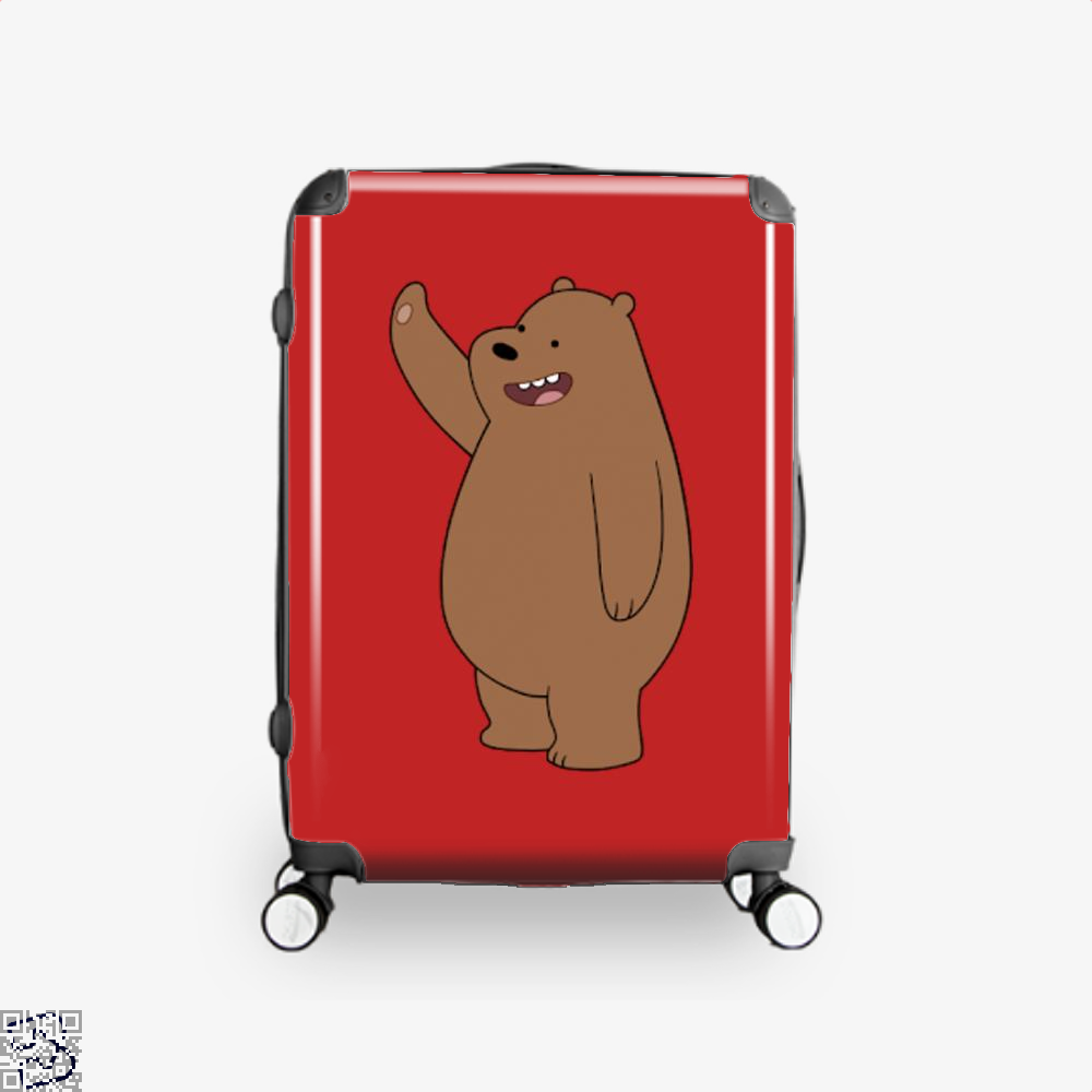 Grizzly Bear High Five We Bare Bears Suitcase - Red / 16 - Productgenapi