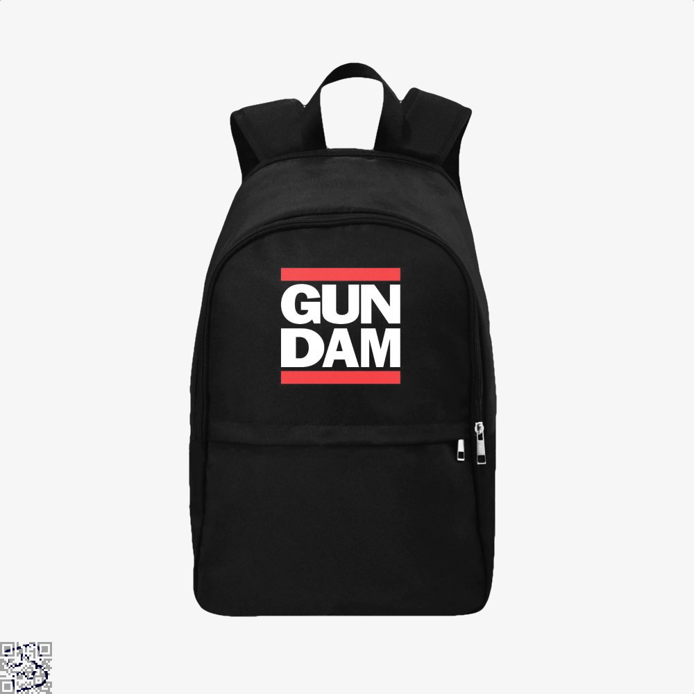 Gun Dam Gundam Backpack - Black / Adult - Productgenjpg