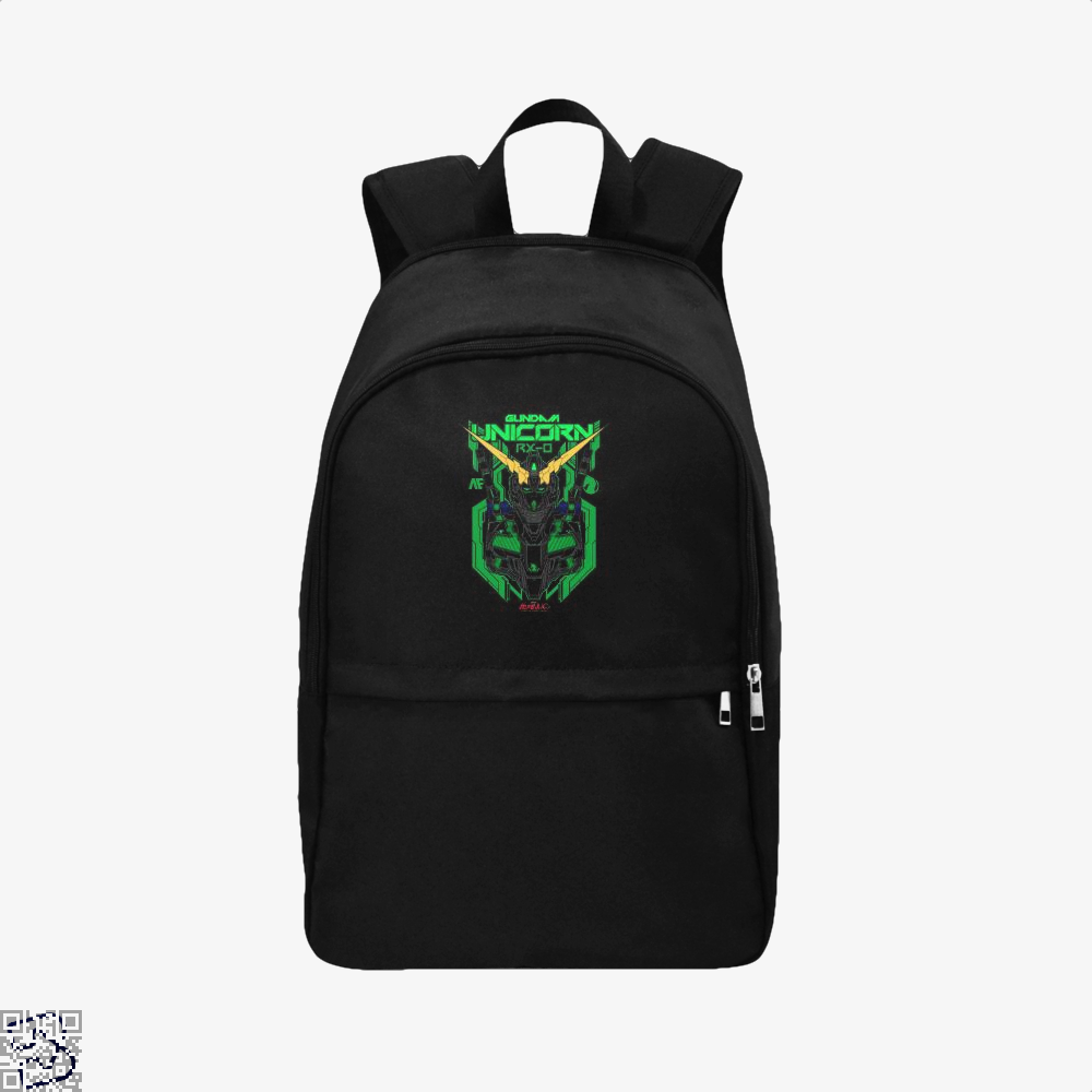 Gundam Unicorn Green Psycho Frame Backpack - Black / Adult - Productgenjpg