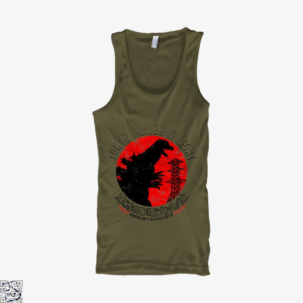 Tokyo Power And Light, Godzilla Tank Top