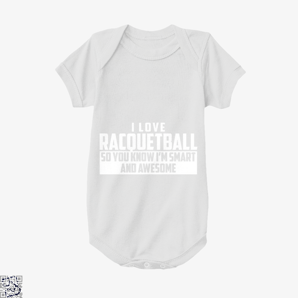 Smart And Awesome Racquetball, Snooker Baby Onesie