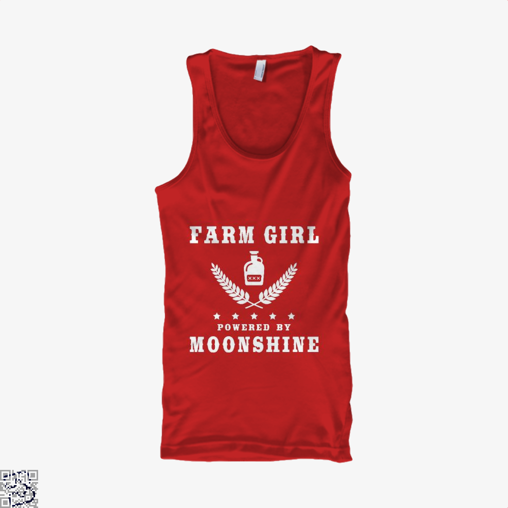 Farm Girl Powered By Moonshine, Drink Tank Top