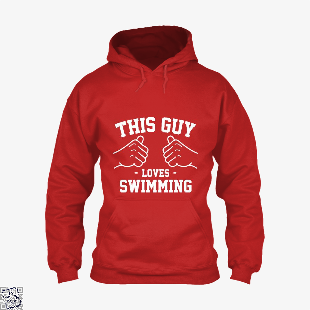 This Guy Loves Swimming, Swim Hoodie