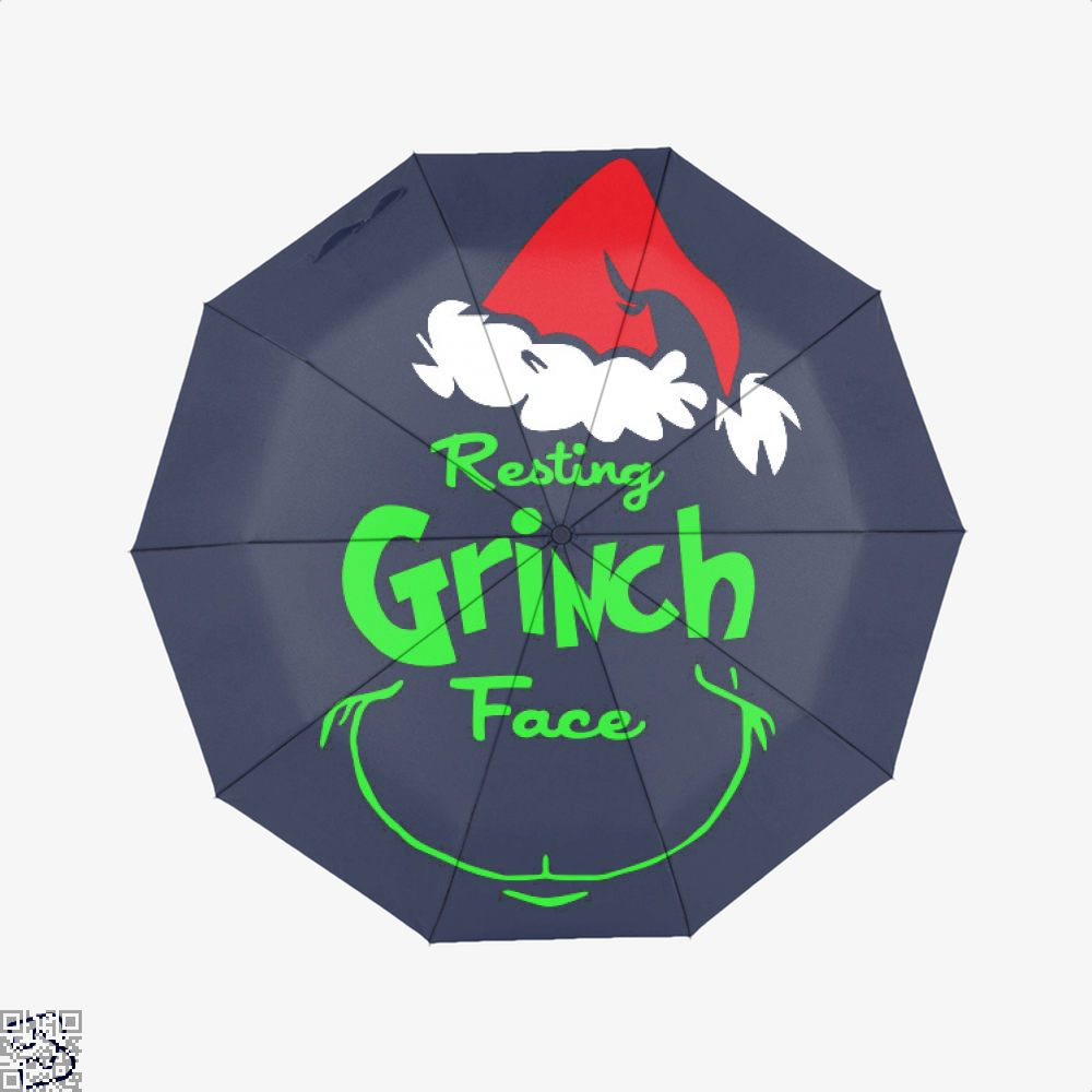 Resting Grinch Face, Grinch Umbrella