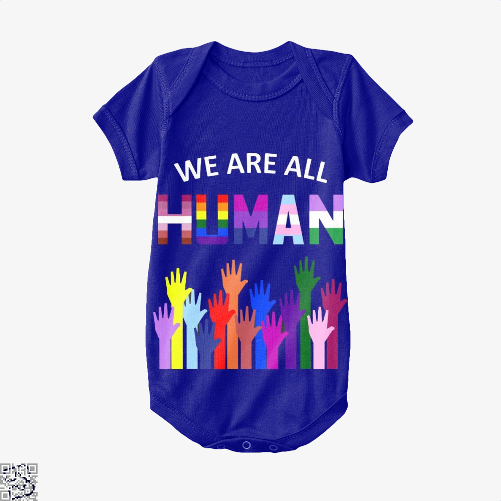 We Are All Human Lgbt Gay Rights Pride Ally Gift, Lgbt Baby Onesie