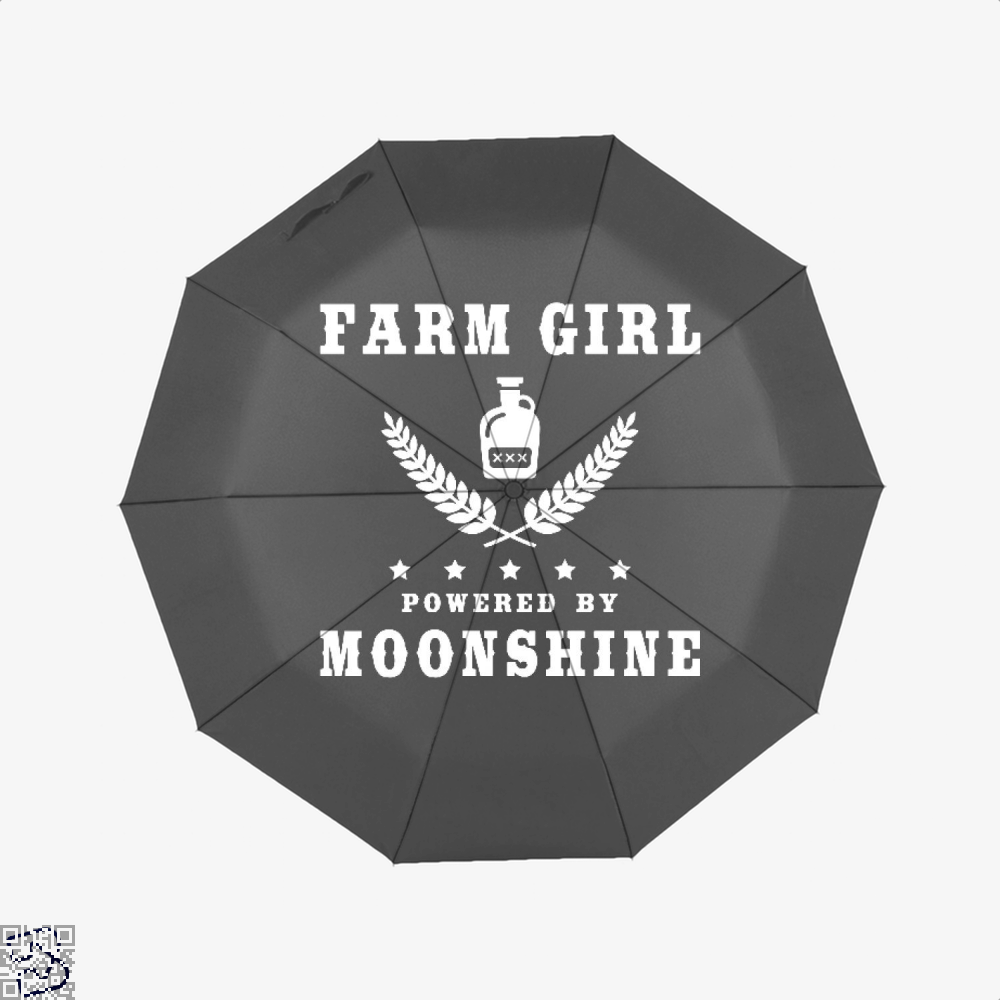 Farm Girl Powered By Moonshine, Drink Umbrella